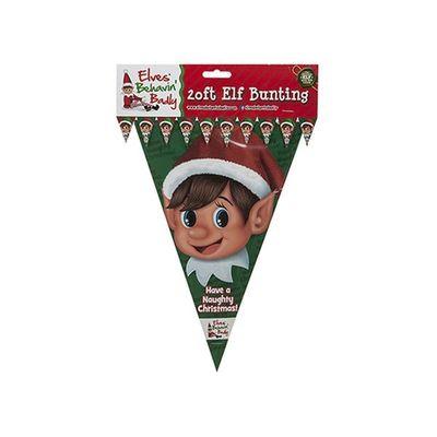 20ft Pe Elf Design 20*30cm     Triangular Bunting With 10 Flags