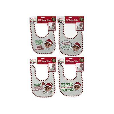 Velcro Elf Bibs. 4 assorted designs.