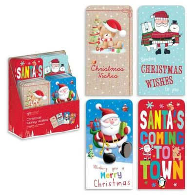 Christmas Cards - Money Wallets Nvlty 4 Designs Cdu