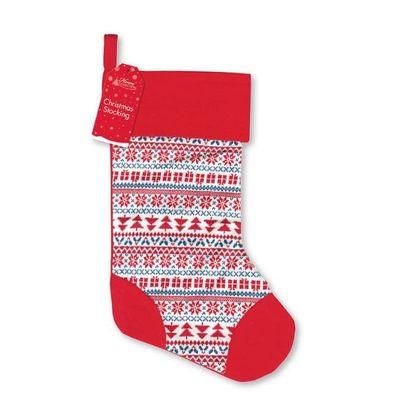 Christmas Stocking - Knitted Fairisle