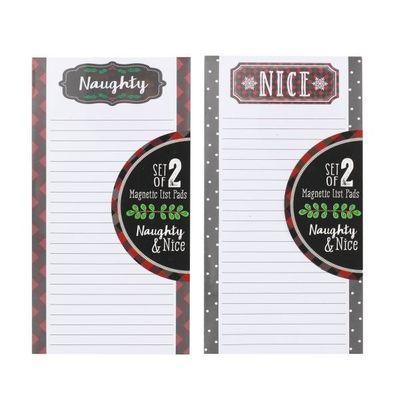 Tri-coastal Design Christmas Elf Naughty And Nice Set Of 2 List Note  Pads  by Juliana