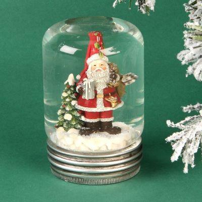 Medium Resin Snow Globe - Santa Claus  by Juliana