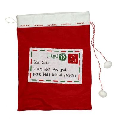 Red Felt Christmas Sack 65cm  by Juliana
