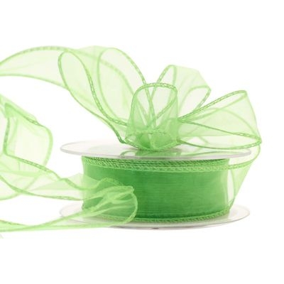 30mm Lime Chiffon Ribbon