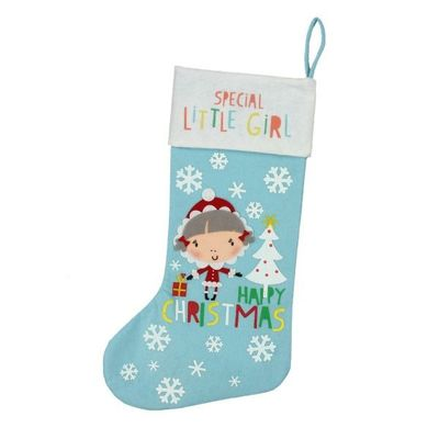 Special Little Girl Stocking  by Juliana