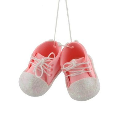 Baby Pink Bootees Tree Ornament  by Juliana