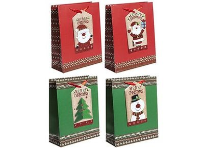 Small 4 Assorted Giant Tag Gift Bags