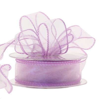 30mm Lilac Chiffon Ribbon