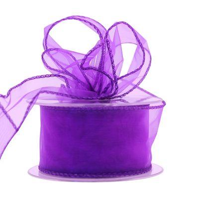 50mm Purple Chiffon Ribbon