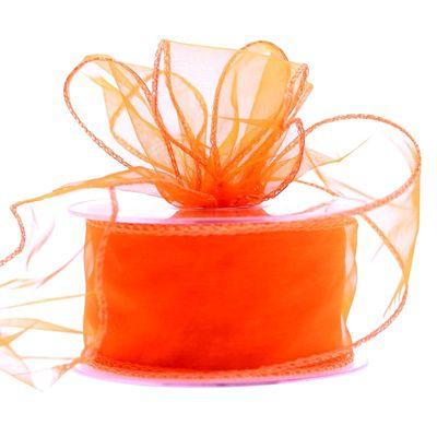 50mm Orange Chiffon Ribbonm