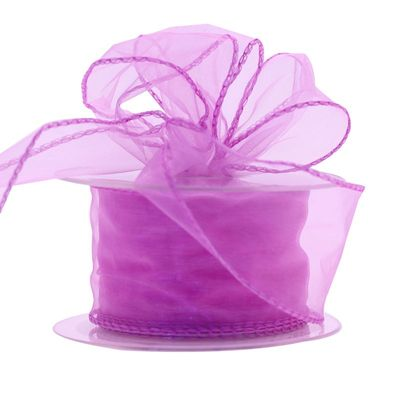 50mm Lilac Chiffon Ribbon