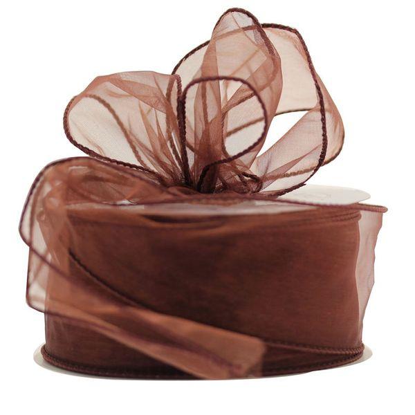 50mm Brown Chiffon Ribbon