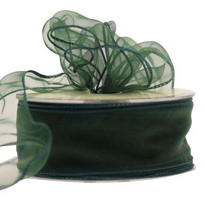 50mm Hunter Green Chiffon Ribbon