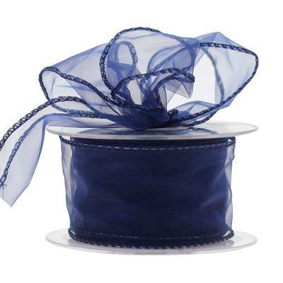 50mm Blue Chiffon Ribbon