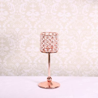 25cm Rose Gold Candle Holder