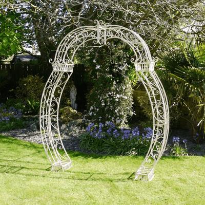 Cream Curved Garden Arch