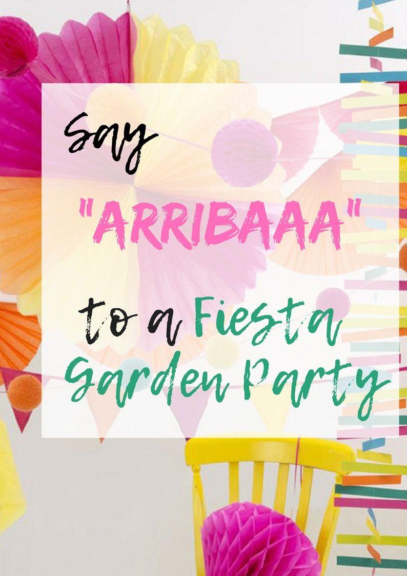 """Say """"ARRIBAAA"""" to a Fiesta Garden Party"""