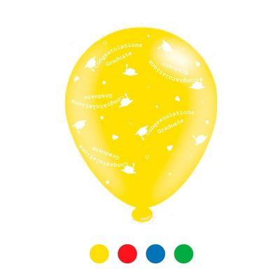 Congratulations Graduate Unisex Mix Latex Balloons x 6 pks of 8 balloons (1/48)