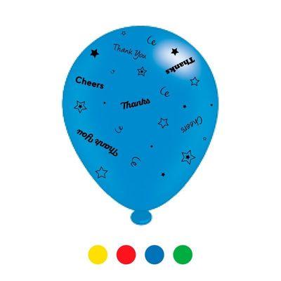 Thank You Unisex Mix Latex Balloons x 6 pks of 8 balloons (1/48)