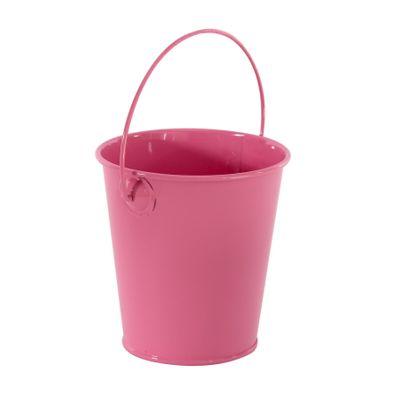 9cm Zinc Drop in Bucket  Pink  (60)