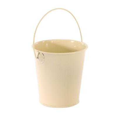 9cm Zinc Drop in Bucket Cream  (60)