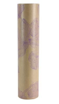 50x125m Nat Kraft Nina Lilac Paper