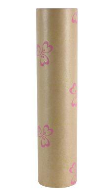 50x125m Nat Kraft Pollyanna Green/Pink Paper