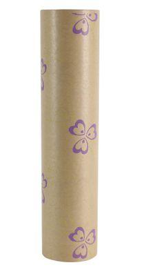 50x125m Nat Kraft Pollyanna Green/Lilac Paper