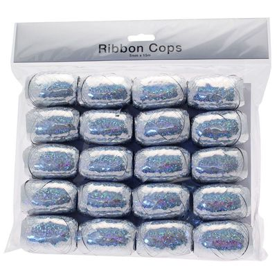 Holographic Silver Ribbon Cops x 20 ()