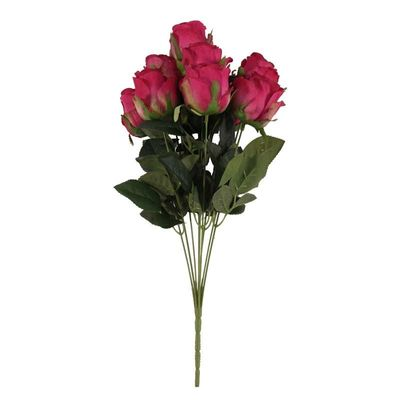 Camelot  Rose Bud 9 Heads Fuchsia (12/96)