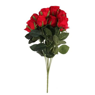 Camelot  Rose Bud 9 Heads Red (12/96)