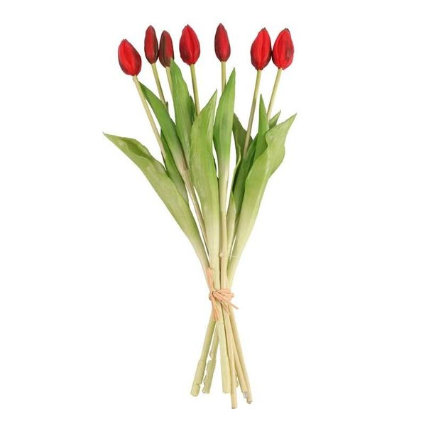 Real Feel Tulip Bunch Red  (6/72)