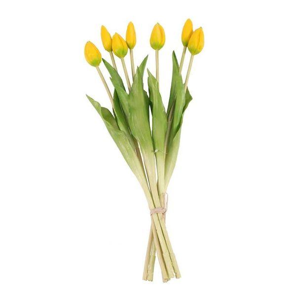 Real Feel Tulip Bunch Yellow (6/72)