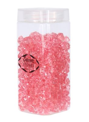 280gr Baby Pink Small Crystal Stones  in Jar (1/16)