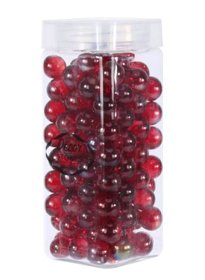 700gr Red 16mm Glass Marbles in Jar (1/16)
