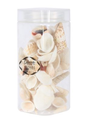 250gr Sea Shells Mixed  in Jar (1/16)