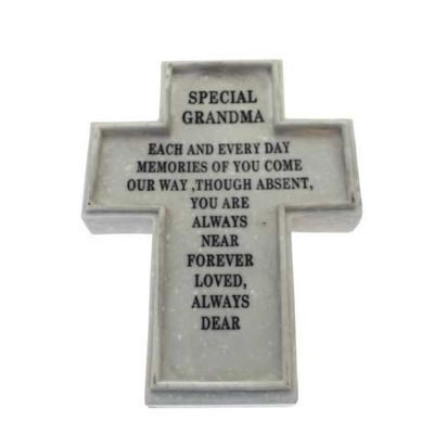 20.3x16x2.2cm Special Grandma Memorial Cross (1/6)