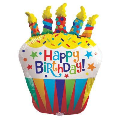 Birthday Cupcake Balloon (36 inch)