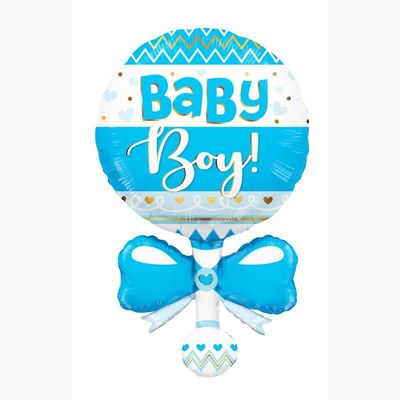 Baby Rattle Shape Blue (36 inch)