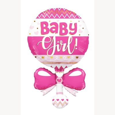 Baby Rattle Shape Pink (36 inch)