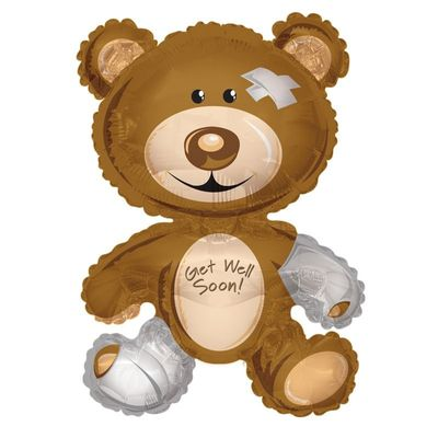 Bear Get Well Balloon (36 inch)