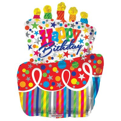 Big Cake Birthday Balloon (36 inch)