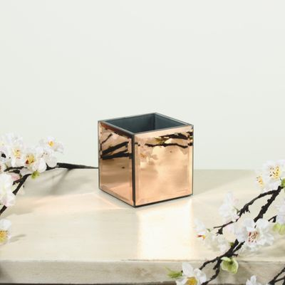 10x10cm Mirror Cube-Rose Gold