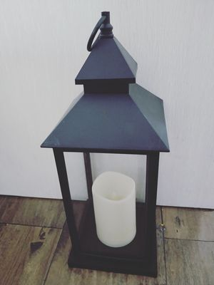 38 X 15 cm Black Lantern w/ LED candle