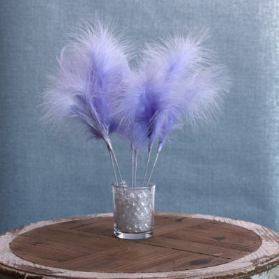 Fluff Feather Bunch x 6 Light Purple