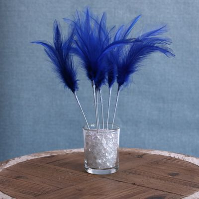 Narrow Feather x 6 Royal Blue