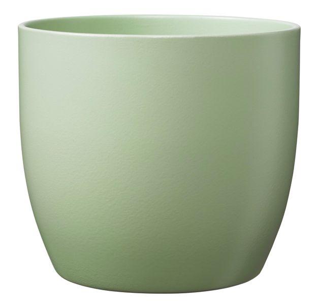 Basel Ceramic Pot Matte Lime Green (14cm)