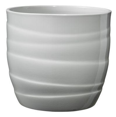 Barletta Ceramic Pot Shiny Light Gray (14cm)