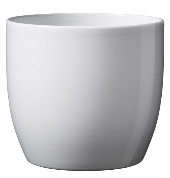 Basel Full Color Ceramic Pot Shiny White (16cm)