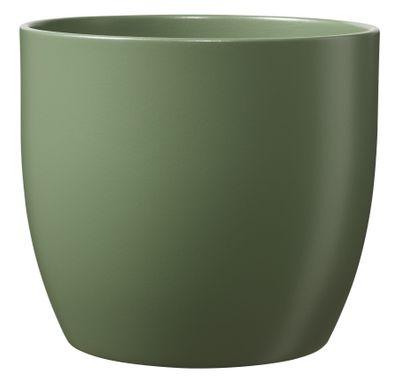 Basel Ceramic Pot Matte Moss Green (21cm)